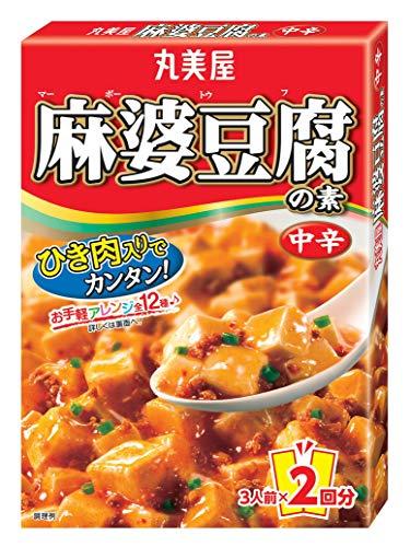 丸美屋 麻婆豆腐の素 中辛 162g×10箱入