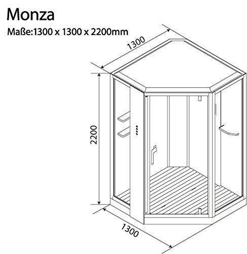 """Dampfdusche """"Monza"""" Schwarz Dampf Dusche, Duschkabine, Dampfbad, Duschtempel, Duschkabinett - 7"""