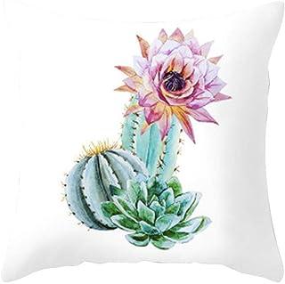 Noete Funda de cojín de Piel de melocotón de Cactus para casa cojín Lumbar cómodo y Suave para Coche salón Dormitorio decoración 45*45cm