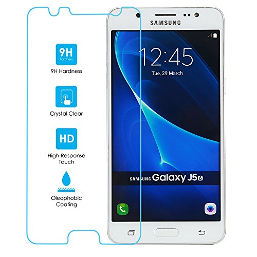 World Biz ¨ - Protector de Pantalla de Cristal Templado para Samsung Galaxy J5 (2016), dureza 9H, Transparencia HD Ultra Clara de 0,26 mm, Bordes Lisos 2.5D, Revestimiento oleofóbico (sin Burbujas)
