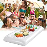 bestheart Floating Spa Hot Tub Bar Drink and Food Table Floating Inflatable Table Storage for Snacks Phones and Drinks