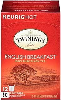 Twinings of London English Breakfast Tea K-Cups for Keurig, 12 Count (Pack of 6)