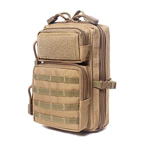 Tactical Molle Compact EDC Tool Pouch (Tan)