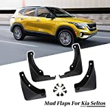 YEE PIN 2021 Seltos Mud Flaps Splash Guards for 2021 Kia Seltos Fender Flares with Retainer Clips and Screwdriver (Set of 4)