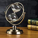 Reloj de arena giratorio antiguo, reloj de arena vintage, temporizador de cocina de vidrio, ajuste de ángulo de 360 °, para decoración del hogar, escritorio y oficina-El 13x24cm_30 minutos