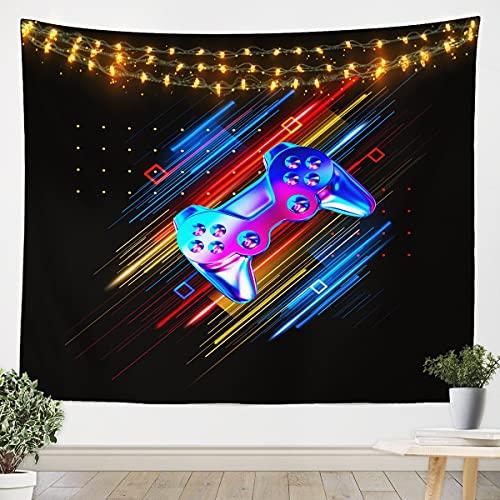 Loussiesd Tapiz de juego para colgar en la pared, tapiz de gamepad para niños, niñas, niños, adolescentes, controlador, arte de pared para dormitorio, sala de estar, grande 122 x 189