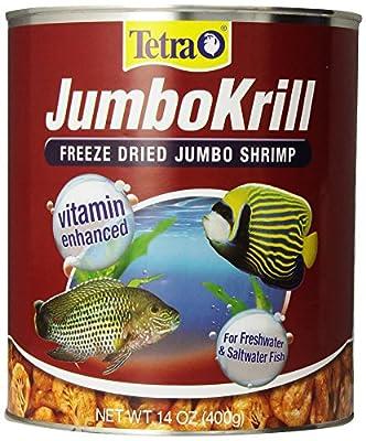 Tetra JumboKrill Freeze-Dried Jumbo Shrimp 14 Ounces, Natural Shrimp Treat For aquarium Fish