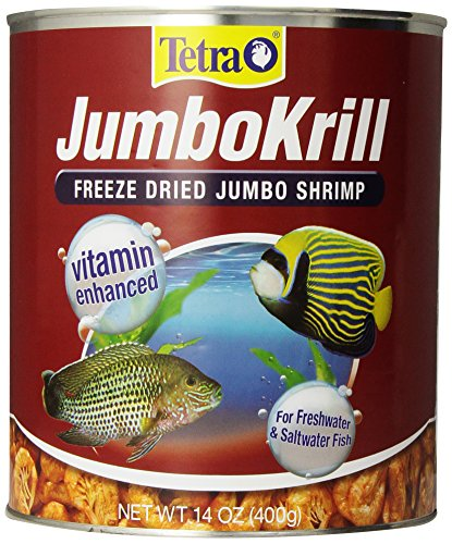 Tetra JumboKrill Freeze-Dried Jumbo Shrimp 14 Ounces,...