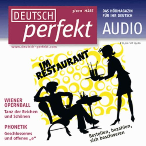Deutsch perfekt Audio - Im Restaurant. 3/2011 cover art