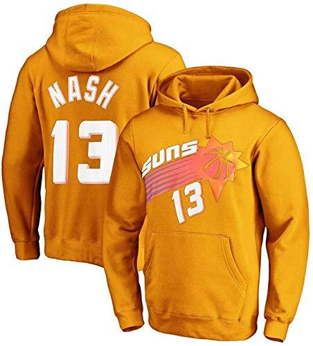 HCMNMW Sudadera con Capucha NBA Sudadera con Capucha para el Baloncesto Juvenil, Phoenix Suns Steve Nash 13# Sudadera Top Flojo y cómodo Suéter Deportivo de Manga Larga, cumpleaños S-3XL