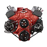 Small Block Chevy Serpentine System for 283 302 305 350 400 Engines- Power Steering and Alternator