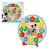 WOOMAX - Reloj aprender la hora Formas encajables Reloj nios 3 aos - Mi primer reloj Montessori para todos nios nias Puzzle infantil nios - Juguetes educativos