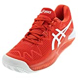 ASICS Women's Gel-Resolution 8 Clay Tennis Shoes, 6.5M, Fiery RED/White