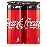 Coca-Cola Zero Zuccheri - Lattine, pacco da 4 x 330 ml