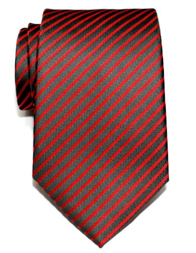 Retreez Modern Stripe Woven Microfiber Men's Tie Necktie - Various Colors