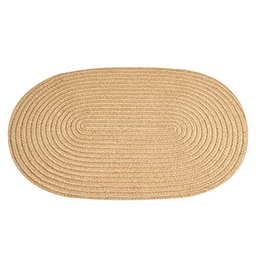 JIYUERLTD Alfombra tejida a mano de yute, tapete de piso trenzado natural para cocina, entrada, pasillo y mascotas jugando (23.6 pulgadas de ancho x 35.4 pulgadas de alto x 0.24 pulgadas de alto)