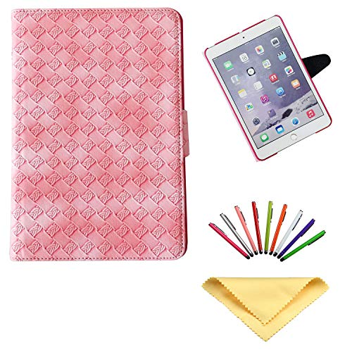 Uliking Cover for Apple iPad 9.7 Inch 2018/2017 (iPad 6th/5th Gen), iPad Air/iPad Air 2 Case, Stand Slim Lightweight Smart PU Leather Hard Back Shockproof Folio Weave Cover with Auto Wake/Sleep, Pink