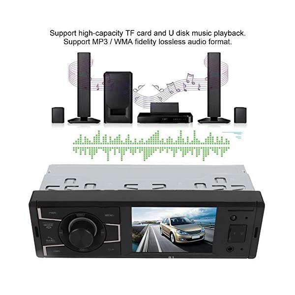 MP3 Player Car Stereo MP5  Player Stereo Radio Music Video Receiver Car MP3 Bluetooth Radio Player Stereo Audio in-Dash Remote Controller Support USB TF AUX RCA 4