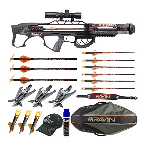 Ravin Crossbows R29X 450 FPS Crossbow (Predator Camo) Enthusiast Bundle (8 Items)