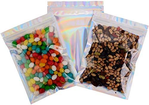 SYOUHOKU アルミ袋 30個14*20cm 保存用バッグ コーヒー 粉 スナック ナッツ お菓子 クッキー チョコレート 食品袋 小分け袋 パッケージ袋 キッチン収納 クラフト 防湿 防水 シルバー