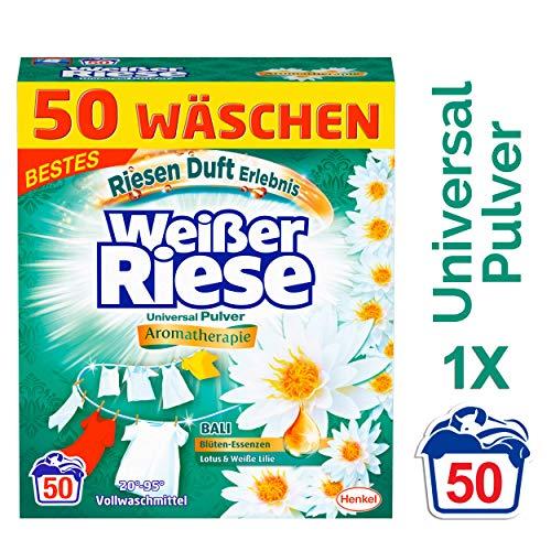 Weißer Riese Universal Pulver, Aromatherapie Bali Lotus & Weiße Lilie, Waschmittel, 50 Waschladungen