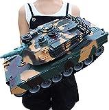 Zhangl De carga USB Sorpresa comandante Auto Man Modelo de control remoto principal tanque de batalla rastreadores carro de juguete RC Panzer del tanque uno y dieciocho minutos gigante alemán del tigr