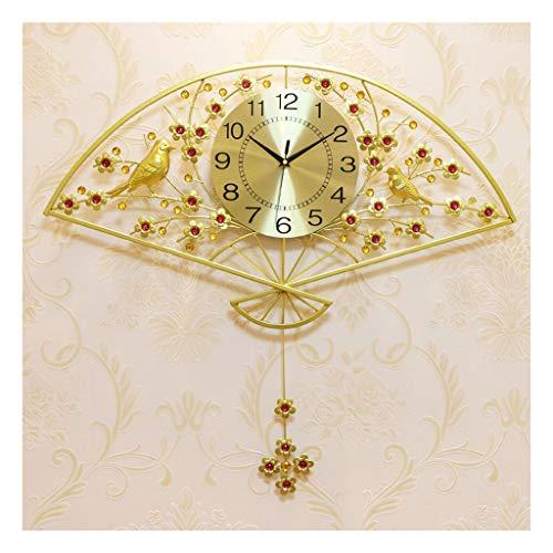 Reloj de Cuarzo de Pared Sala de estar con forma de ventilador moderno minimalista reloj de pared gran péndulo reloj oro mute pared reloj dormitorio reloj de pared reloj de pared digital Decorar La Of
