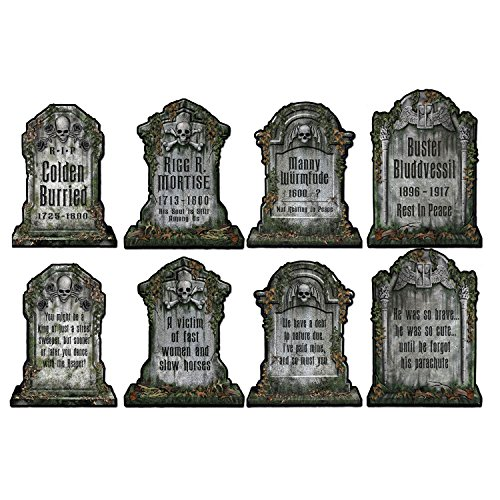 Beistle Tombstone Cutouts 4 Piece Halloween Party Decorations