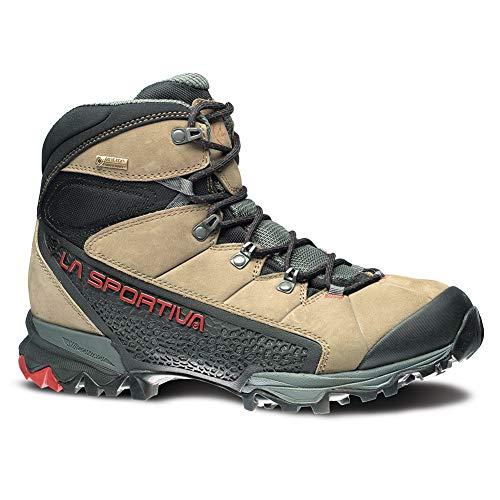 La Sportiva Men's Nucleo High GTX Hiking Shoe, Taupe/Brick, 44