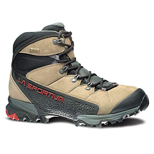 La Sportiva Men's Nucleo High GTX Hiking Shoe, Taupe/Brick, 45.5