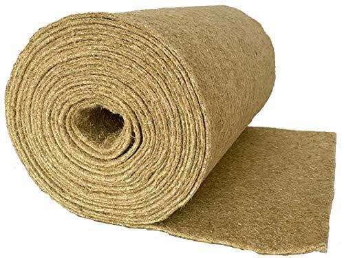 Nager-Teppich aus 100 % Hanf, Meterware, 0,60 m x 10,00 m x 0,5 cm dick (EUR 5,65/m²), Nagermatte geeignet als Käfig Bodenbedeckung z.B. für Kaninchen, Meerschweinchen, Hamster, Degus, Ratten und andere Nagetiere.
