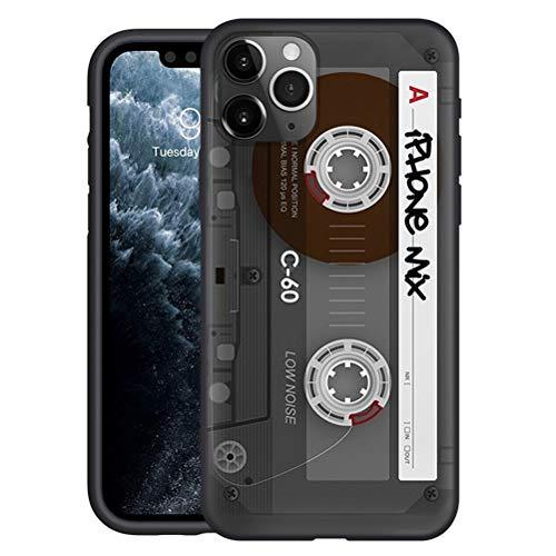 Yoedge Negro Custodia para Xiaomi Mi 9T/ 9T Pro/Redmi K20/K20 Pro/Pocophone F2 6.39″ Dibujos Animados Carcasa de Silicona Case Protectora de TPU Suave Protección Cover Teléfono Fundas,Cinta de Audio
