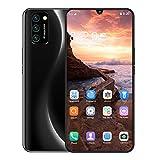 Sanniya Móviles y Smartphones Libres M21 7.5pulgadas Water-Drop Screen Movil Doble SIM 8+256GB Deca Core Android 9.1 Smartphones
