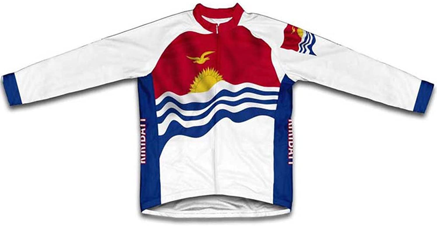 Kiribati Flag Winter Thermal Cycling Jersey for Women