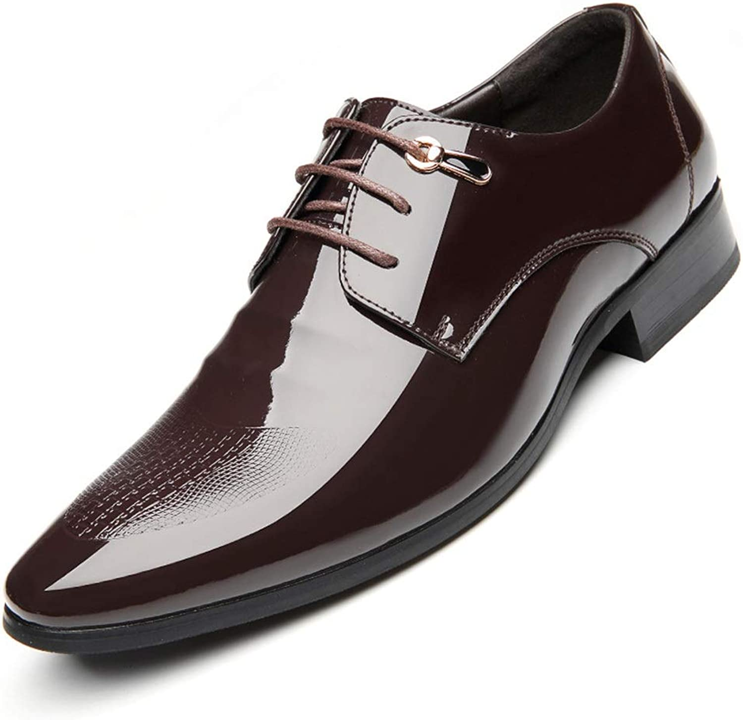 Carved Handmade shoes Formal Men's shoes, Two-layer Leather Suit, Men's Leather shoes, Fashion (color   Brown, Size   41)