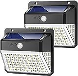 Yacikos Luz Solar Exterior 82 LED, Foco Solar Jardín 2000mAh, Lámpara Solar 270º Gran Angular de Iluminación con Sensor...