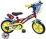 Mickey/Disney - Bicicleta de 12 Pulgadas, con 2 Frenos, 2 estabilizadores con Montaje sin Herramientas, transmisión de una Sola Velocidad