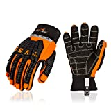 Vgo 1 Pair Synthetic Leather Cut Resistant Heavy Duty Mechanic Work Gloves, Oil