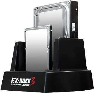 "Kingwin USB 3.0 to SATA/SSD Dual Bay Hard Drive Docking Station w/Offline Clone Function. Compatible w/ 2.5""/3.5"" Inch SATA HDD/SSD (SATA I/II/III). Tool-Free Design, Support 2x8TB Drives & UASP"