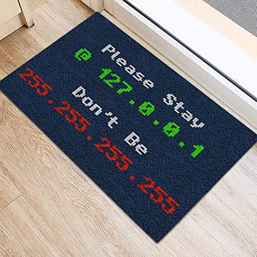 "SHININGCN Felpudo Exterior Entrada Casa Felpudo para Redes informáticas Stay At Home Pasillo Exterior Tapete Absorbente Decoracion Hogar 24""x36"""