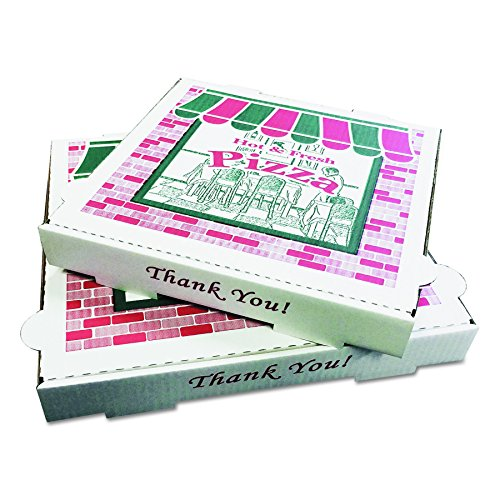 PIZZA Box PZCORB18 Takeout Containers, 18in Pizza, White, 18w x 18d x 2h (Case of 50)