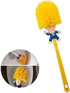 love planet Original Trump Toilet Brush, Trump Toilet Brush Cleaner, Novelty President Gifts Toilet Brush,(orange)