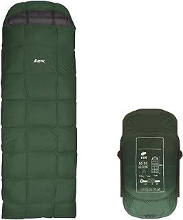 【REMAC】寝袋 ダウン シュラフ 封筒型 コンパクト 防災用品 最低使用温度 -25℃ 1800g (ダークグリーン)