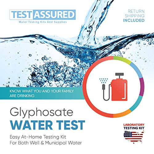 Test Assured Glyphosate Water Test Kit - Easy at-Home Municipal and Well Water Test Kit - Mailed-in Laboratory Glyphosate Testing Kit