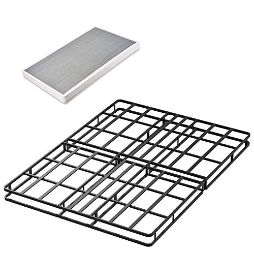 45MinST 14 Inch Reinforced Steel Platform Bed Frame/3500lbs Heavy Duty/Mattress Cover Foundation Edges/No Box Spring Needed/Easy Assembly/Noise Free,Queen/King/Cal King (Queen Size)