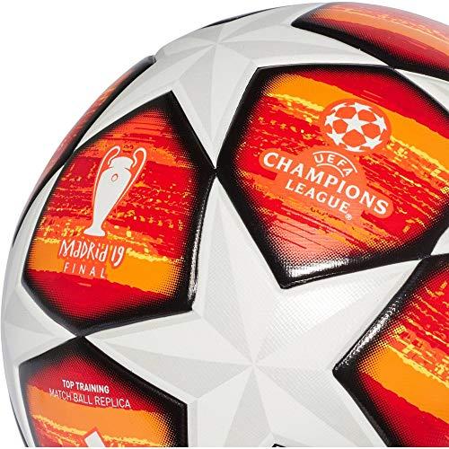 adidas Herren Finale M TTRN Soccer Ball, top:White/Active red/Scarlet/Solar red Bottom:Bright orange/Solar Gold/Black, 5