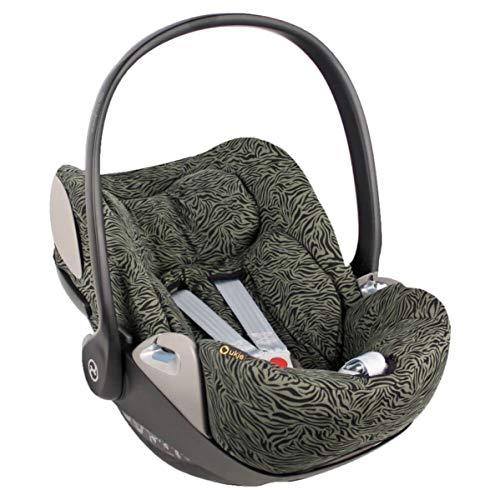 Funda de verano Cybex Cloud Z para portabebés, color verde cebra, ajuste perfecto, suave con certificado Öko-Tex 100, algodón que absorbe el sudor y suave para tu bebé.