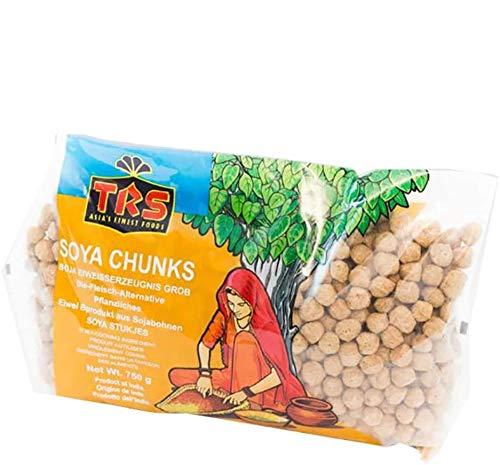 TRS - Carne de Soja | Soja Texturizada de Alto Contenido en Proteínas | Versátil | Sustitutivo de Ingredientes Cárnicos | Sin Sabor | Marca TRS | Vegetariano | Sin Gluten (GF) | Bolsa de 750 g
