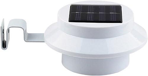 2021 Mallofusa 1PC 3-LED Outdoor Solar Powered LED Gutter sale Light Fence Roof outlet sale Gutter Garden Yard Wall Lamp online sale