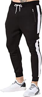 EVERWORTH Men's Gym Slim Fit Tapered Sweatpants Workout Jogger Pants Running Fitness Activewear with Zipper Pockets